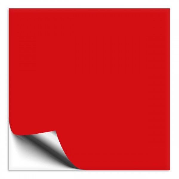 Fliesenaufkleber 25x25 cm rot