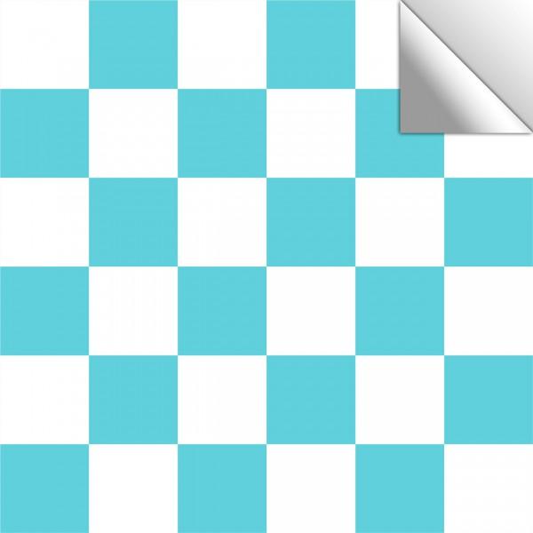 Fliesenaufkleber Mosaik weiß/türkis