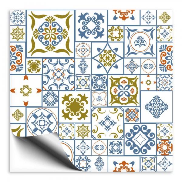 Fliesenaufkleber Marokko Ornament bunt 42