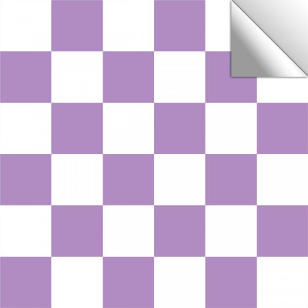 Fliesenaufkleber Mosaik weiß-lavendel