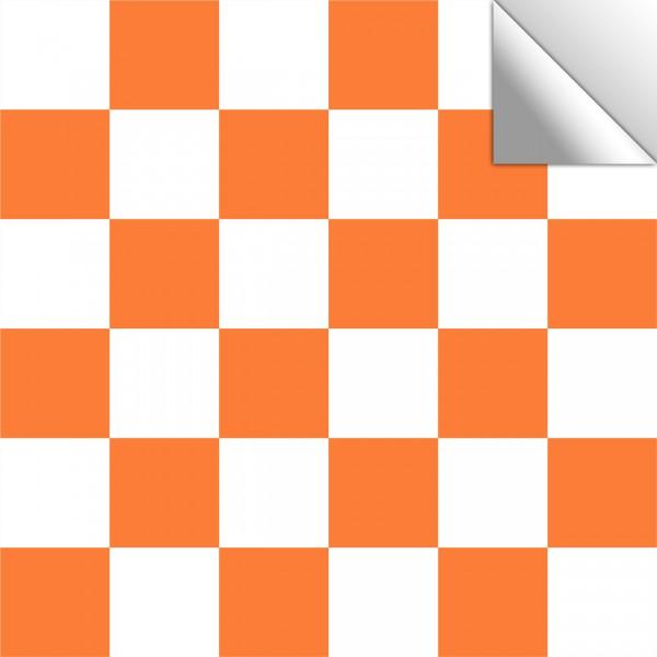 Fliesenaufkleber Mosaik orangebraun/weiß