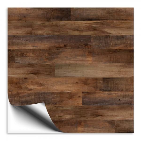 Fliesenaufkleber Holz Nussbaum